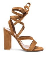 Gianvito Rossi Suede Sandals In Brown
