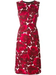 Marc Jacobs Floral Print Dress Pink And Purple
