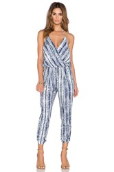 Eight Sixty Casablanca Halter Jumpsuit Blue