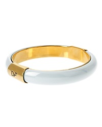 Diane Von Furstenberg Monogram Bangle White