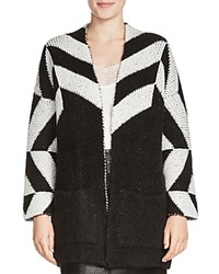 Maje Milady Color Block Cardigan Black