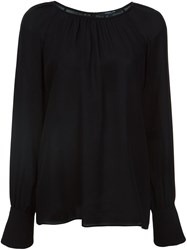 Derek Lam Long Sleeve Blouse Black