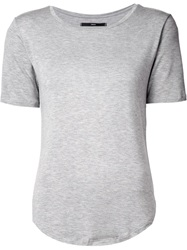 Fadeless Round Neck T Shirt Grey