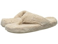 Acorn New Spa Thong Taupe Women's Slippers