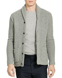 Polo Ralph Lauren Cashmere Shawl Collar Cardigan Fawn Grey Heather
