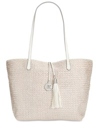 Inc International Concepts La Izla Straw Tote Only At Macy's Silver