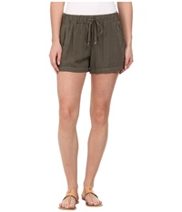 Splendid Rayon Voile Shorts Dusty Olive Women's Shorts