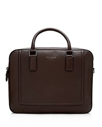 Ted Baker Ragna Leather Bowler Briefcase Chocolate