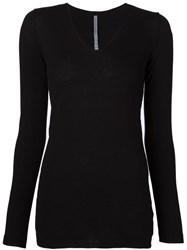 Transit V Neck Sweater Black