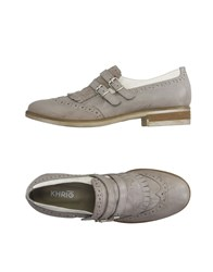 Khrio' Footwear Moccasins Women Light Grey