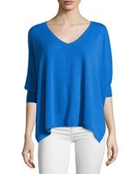 Minnie Rose Cashmere V Neck Dolman 3 4 Sleeve Sweater Blue Door