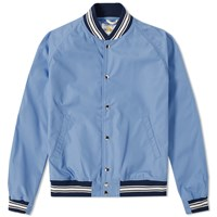 Golden Bear Sportswear Tustin Varsity Jacket Blue