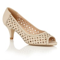 Lotus Hallmark Danita Peep Toe Courts Natural