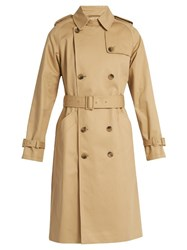 A.P.C. Greta Cotton Gabardine Trench Coat Beige