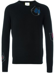 Iceberg Embroidered Jumper Black