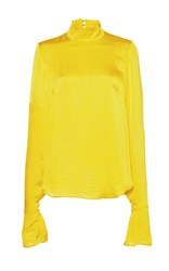 Wanda Nylon Patti Long Sleeve Top Yellow
