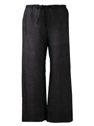 Dosa Wide Leg Trousers Black