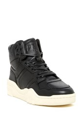 Pony Leather Padded Cuff Mid Sneaker Black