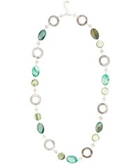 Cc Emerald Oval And Shell Necklace