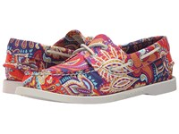 Sebago Dockside Persia Liberty Print Women's Lace Up Casual Shoes Pink