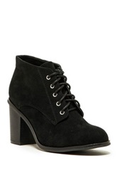 Qupid Varsity Lace Up Bootie Black