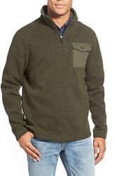 Men's Timberland 'Branch River' Quarter Zip Fleece Sweater Forest Night Heather