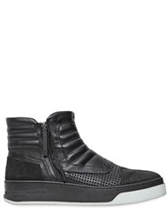 Bruno Bordese Leather And Nubuck High Top Sneakers