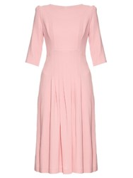 Goat Camelot Wool Crepe Dress Pink