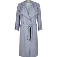 River Island Womens Navy Lightweight Belted Trench Coat