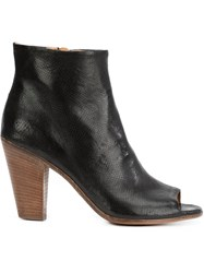 Officine Creative Peep Toe Ankle Boots Black