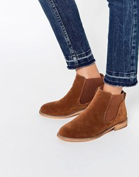 Asos Acute Chelsea Ankle Boots Rust Orange