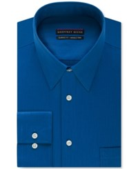Geoffrey Beene Men's Big And Tall Classic Fit Wrinkle Free Bedford Cord Solid Dress Shirt Blue Hawaii