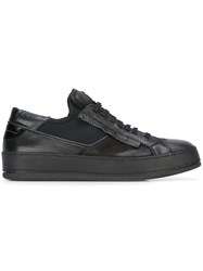 Bruno Bordese Detailed Sneakers Black