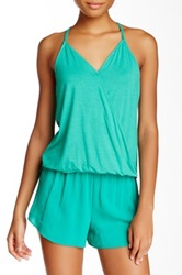 Lily White Knit Wrap Front Cami Tank Juniors Green