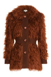 Isa Arfen Faux Fur Jacket Brown