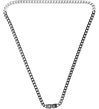 Mister Black Silver Dual Tone Necklace