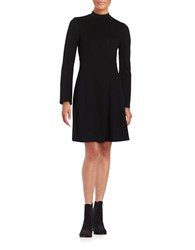 Ivanka Trump Empire Waist Long Sleeve A Line Dress Black