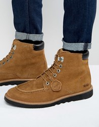Kickers Kwamie Suede Lace Up Boots Tan