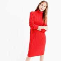 J.Crew Cable Turtleneck Sweater Dress