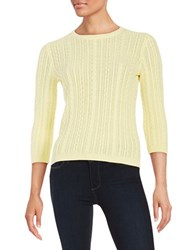 Lord And Taylor Cableknit Sweater Firefly