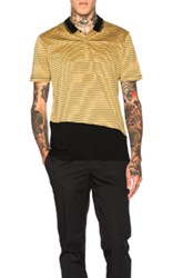 Lanvin Slim Fit Polo In Yellow Stripes