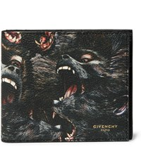 Givenchy Printed Faux Leather Billfold Wallet Black