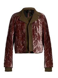 Haider Ackermann Madame Velvet And Linen Blend Jacket Khaki Multi