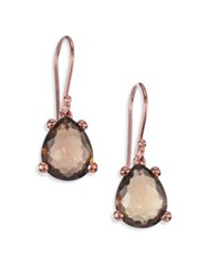 Ippolita Rose Rock Candy Smoky Topaz Pear Drop Earrings Rose Gold
