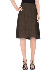Just In Case Skirts Knee Length Skirts Women Military Green