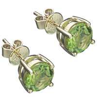 Ewa Peridot Stud Earrings