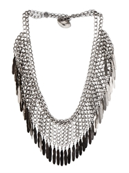 Saint Laurent Plumes Fringe Necklace