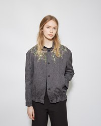 Marni Jeweled Denim Jacket Dark Anthracite