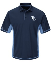 Majestic Men's Tampa Bay Rays Top Of The Inning Polo Navy