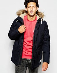 Quiksilver Parka With Insulation And Faux Fur Trim Anthracite
